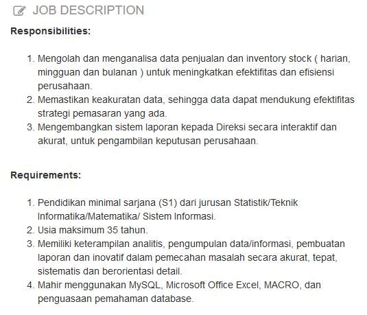 profesi Data Analyst