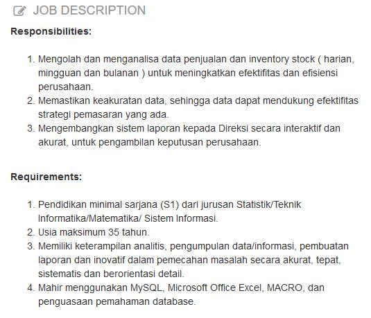 profesi Data Analyst